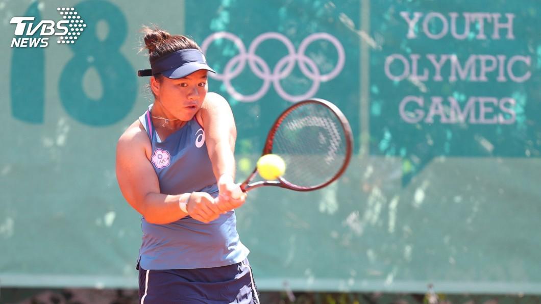 圖/中央社資料畫面 聖荷西女網賽 「小鋼砲」梁恩碩女雙艱辛晉級4強
