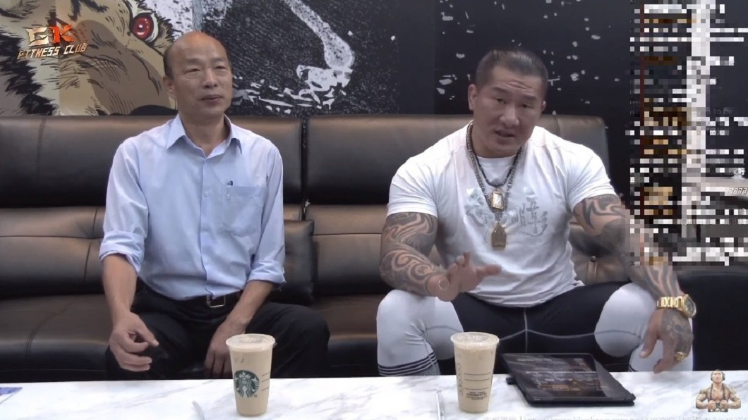 韓國瑜9日接受館長的直播專訪。圖/翻攝自YouTube館長成吉思汗頻道