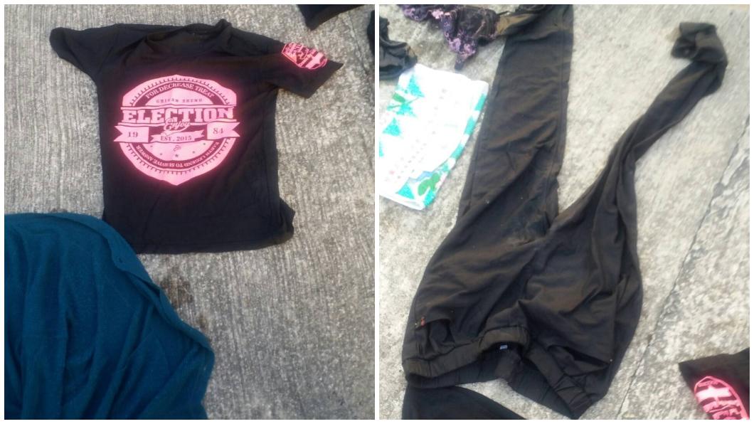 死者背包內有一套換洗衣物。圖/TVBS