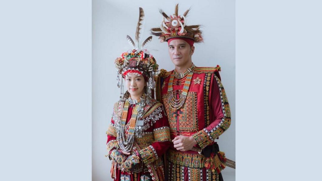 馬志翔今(13日)與魯凱族妻子盧悅亭完婚。圖/翻攝自臉書 迎娶魯凱新娘!馬志翔婚禮超激動 真情告白「百合花」