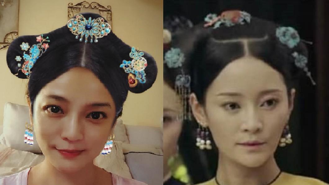 不少網友認為梁家榕激似《延禧攻略》中飾演純妃的王可媛。圖/(圖左)翻攝自 梁家榕 臉書 (圖右)翻攝網路