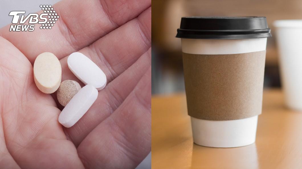 示意圖。圖/TVBS 他隨手拿咖啡配藥 心跳加速差點「挫起來」