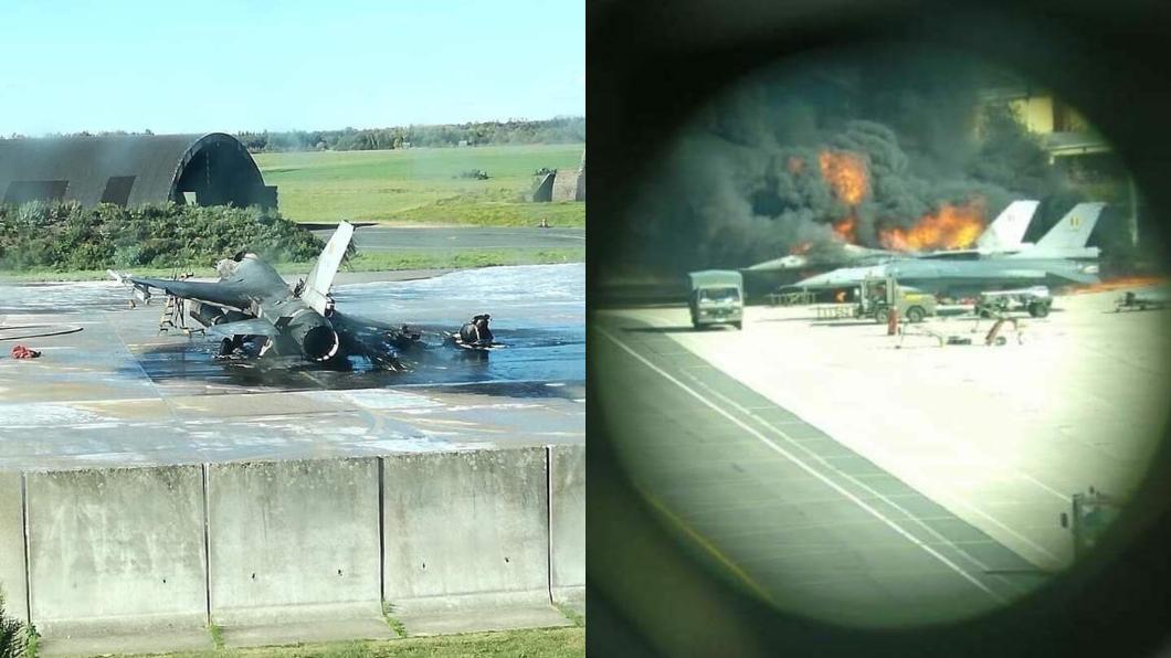 圖/翻攝自Scramble Magazine臉書 維修技師誤觸火神砲 F-16在地上被友機擊毀