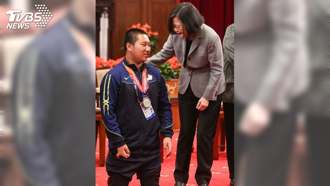圖/中央社 亞帕運選手拚戰 總統:讓世界看見台灣