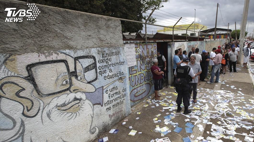 圖/達志影像美聯社 巴西總統大選進第二輪 政治兩極化衝擊選民身心