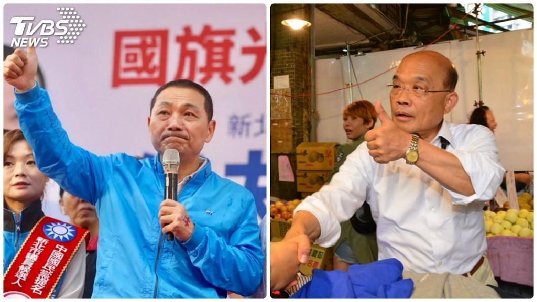 圖/中央社 新北市長選舉激烈 藍綠喊決戰板橋