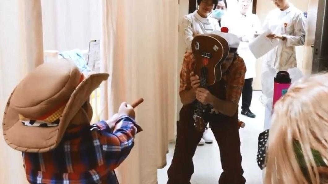 圖/翻攝自紅鼻子醫生臉書 小丑醫生用笑聲填滿醫院 尋回病童的「快樂拼圖」