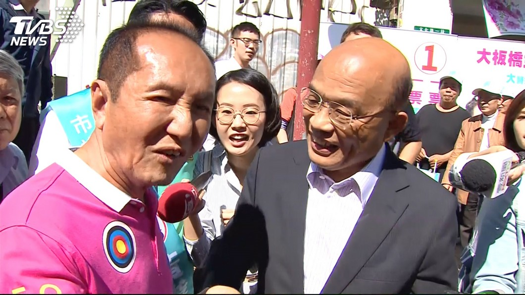 圖/TVBS 同框蘇貞昌「劃清界線」 林義豐:我非綠色