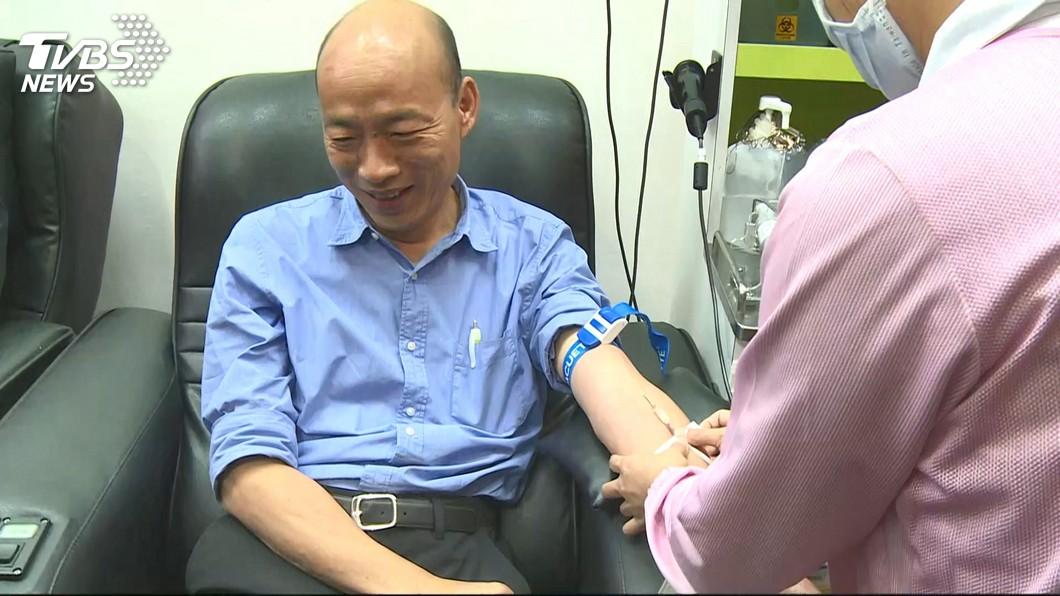 圖/TVBS 韓國瑜捐血自稱陳其邁被罵翻 誦讀心經平眾怒