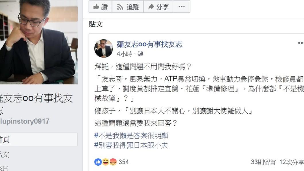 圖/翻攝自羅友志有事找友志臉書