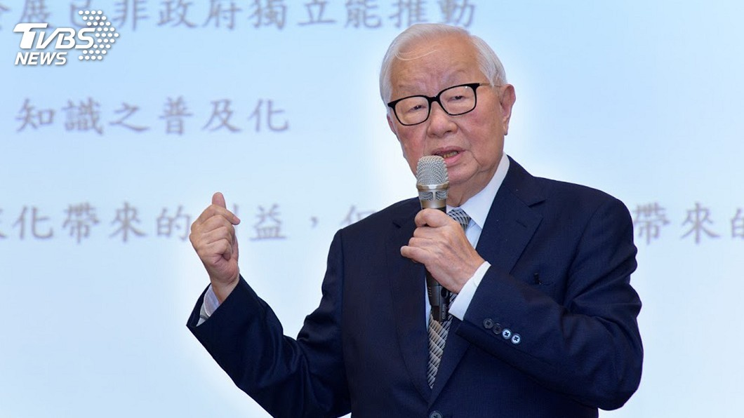 圖/中央社 張忠謀:台灣半導體想保持領先 要靠未來的努力