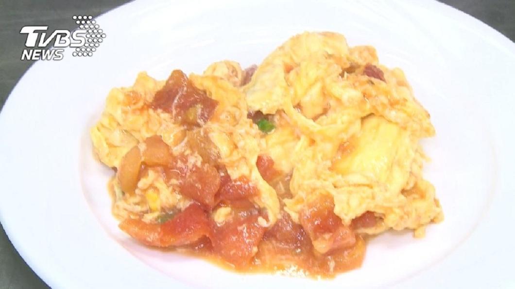 正常的番茄炒蛋樣子。(圖/TVBS)