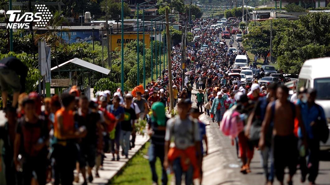 圖/達志影像路透社 中美移民問題加劇 第2批隊伍將前往墨西哥
