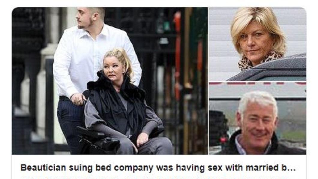 英國一名富商因和小三偷歡導致對方癱瘓,承諾要照顧對方而和妻子離婚,沒想到才3個星期就把小三拋棄另娶新歡。(圖/翻攝自每日郵報推特) 偷情嗨到床塌了…男顧癱瘓小三3星期 另娶新歡拋棄她