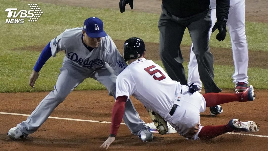 圖/達志影像美聯社 MLB世界大賽第二戰 道奇2比1暫時領先紅襪
