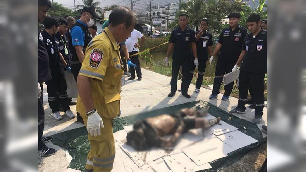 圖/翻攝自泰國網臉書 素食店有人類碎肉!洗衣機壓化糞管挖藏半裸男屍