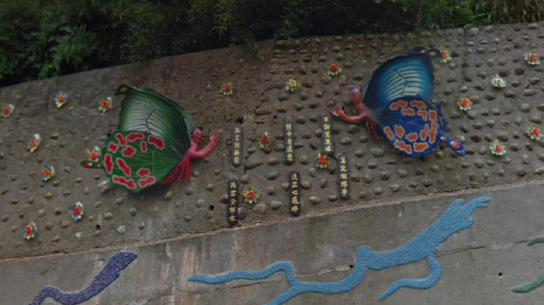 圖/Google Map 人面蝴蝶掛山壁...新竹詭異景點 網嚇尿:是魔神仔