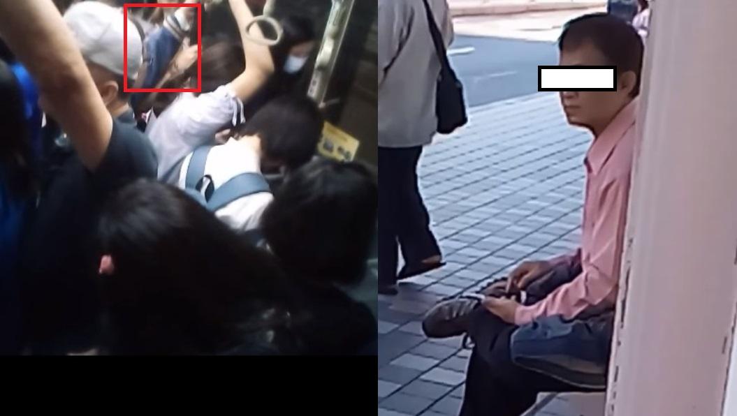 網友曝光噴公車之狼的模樣。翻攝自/爆料公社 「大腿有不明液體」公車之狼又騷擾 這次終於被逮!