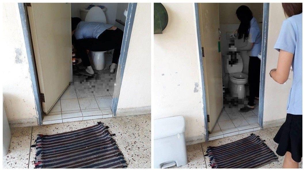 泰國一名即將臨盆的孕婦遲遲等不到醫師出現,直接在醫院廁所內產子。(圖/翻攝自臉書) 醫師遲到太誇張 臨盆孕婦在廁所直接產子