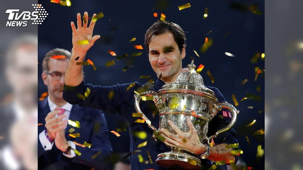 圖/達志影像路透社 摘下職網生涯第99冠! 費德瑞瑞士室內網賽封王