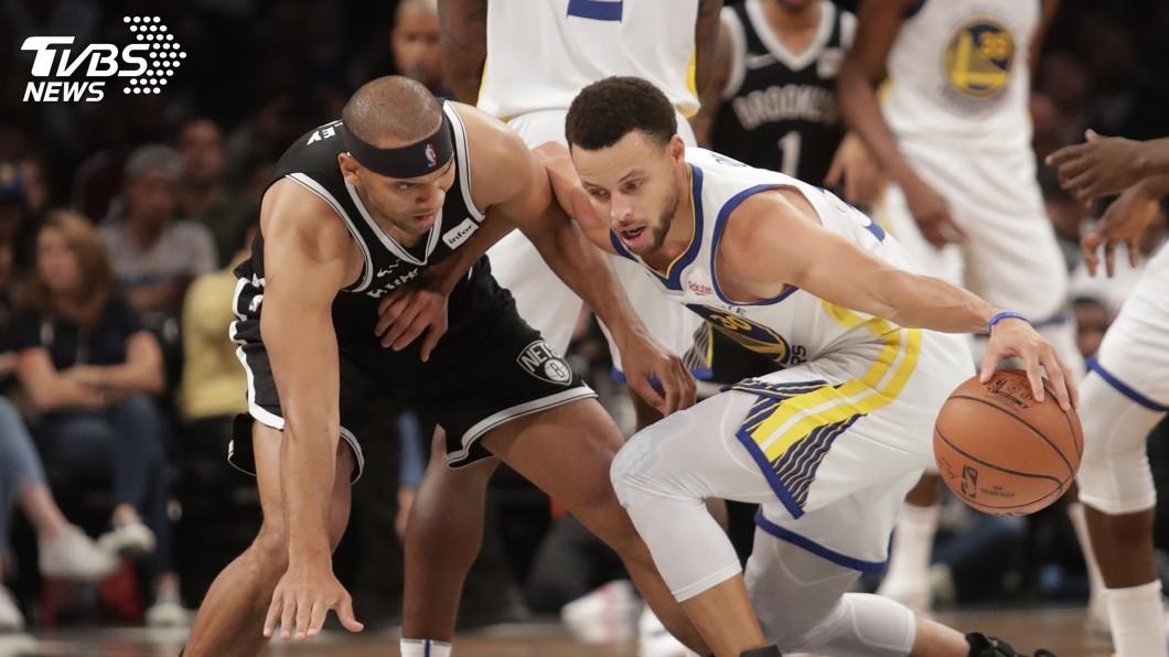 圖/達志影像美聯社 柯瑞飆7顆三分球 NBA勇士撕裂籃網奪4連勝
