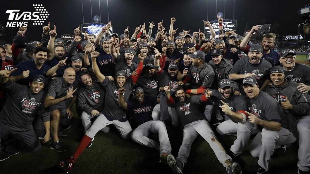 圖/達志影像美聯社 紅襪5戰收拾道奇 隊史第9座世界大賽冠軍