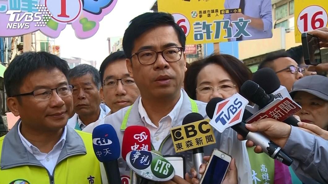 圖/TVBS 宣傳車吵醒嬰回「戴耳塞」 陳其邁拒小編辭職:一起面對