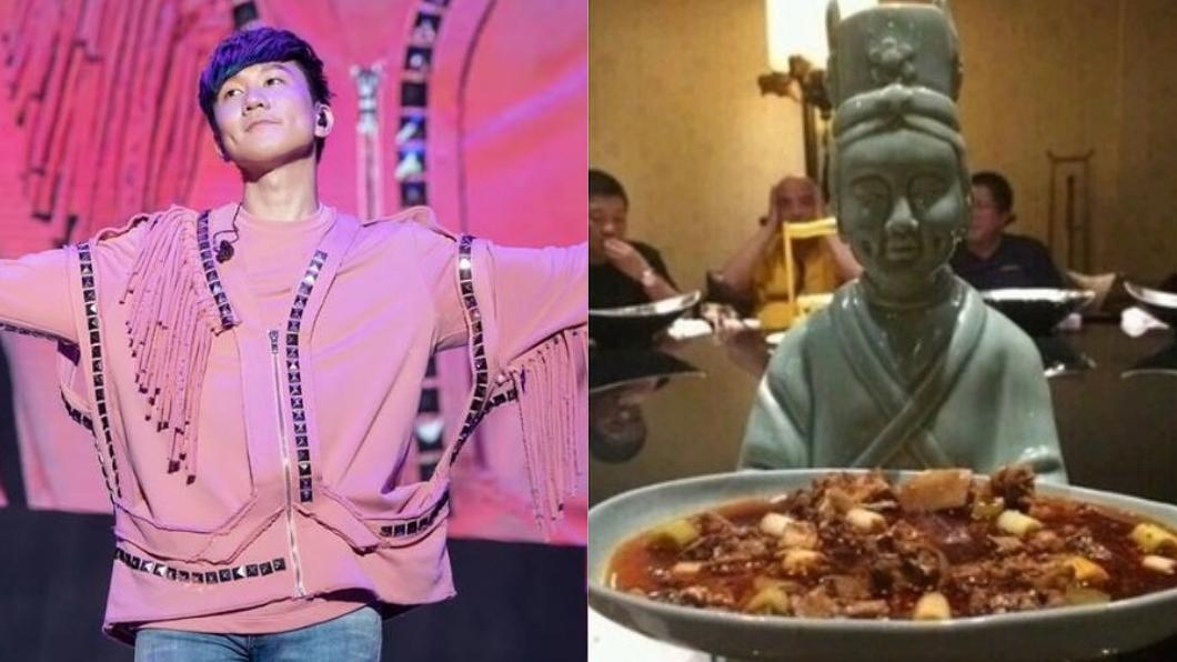 圖/翻攝自林俊傑臉書、微博 餐廳巧遇「林俊傑端盤子」 粉絲激動:是本人沒錯!