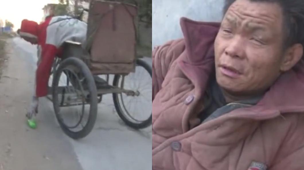 翻攝自/澎湃新聞 「飯少就給他吃」輪椅哥撿回收養家 盲弟:沒他我早死了