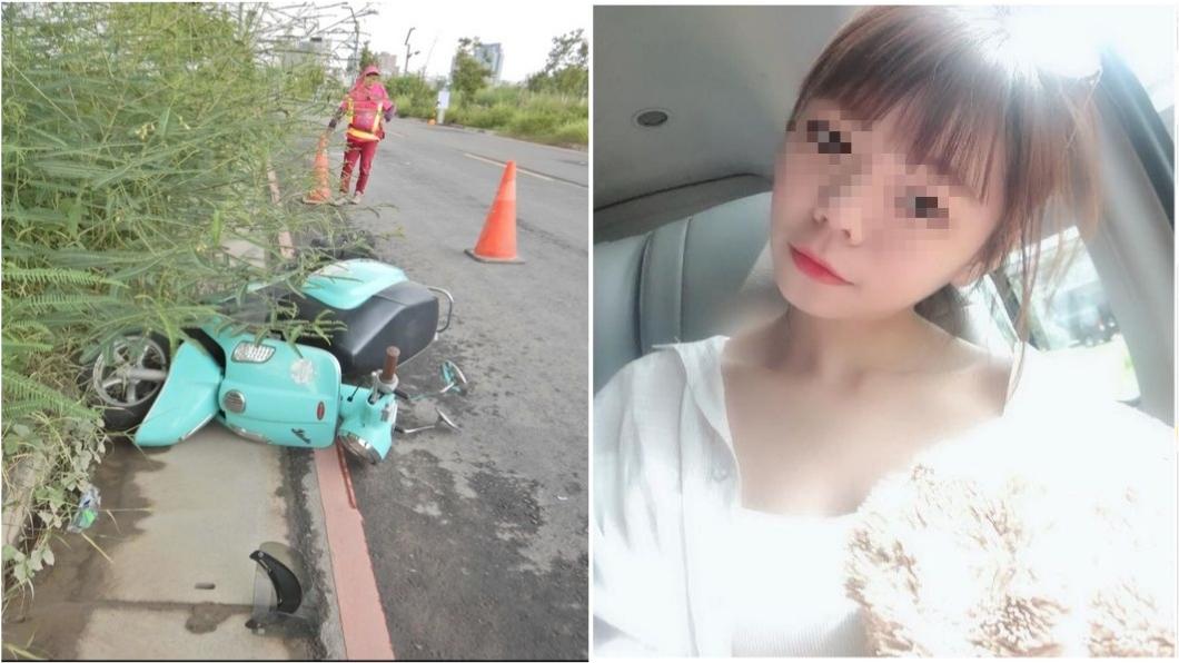 圖/TVBS、臉書 真相大逆轉...女騎士路倒休克亡 恐遭砂石車輾壓