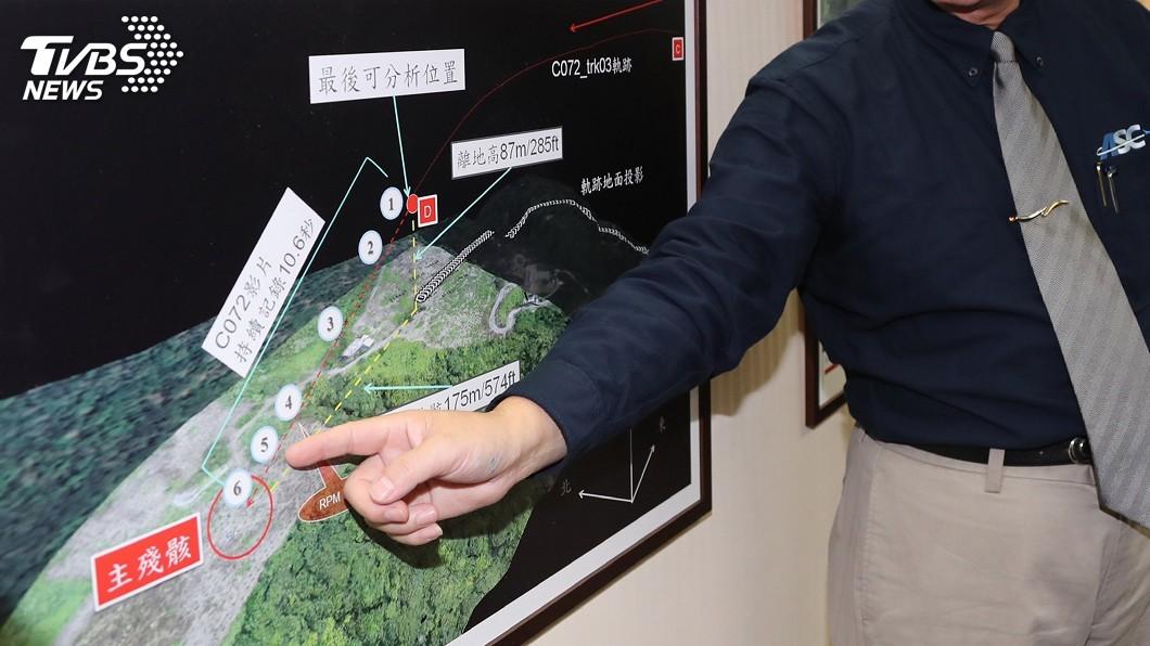 圖/中央社 齊柏林空難調查高難度 137秒影像3天重建軌跡
