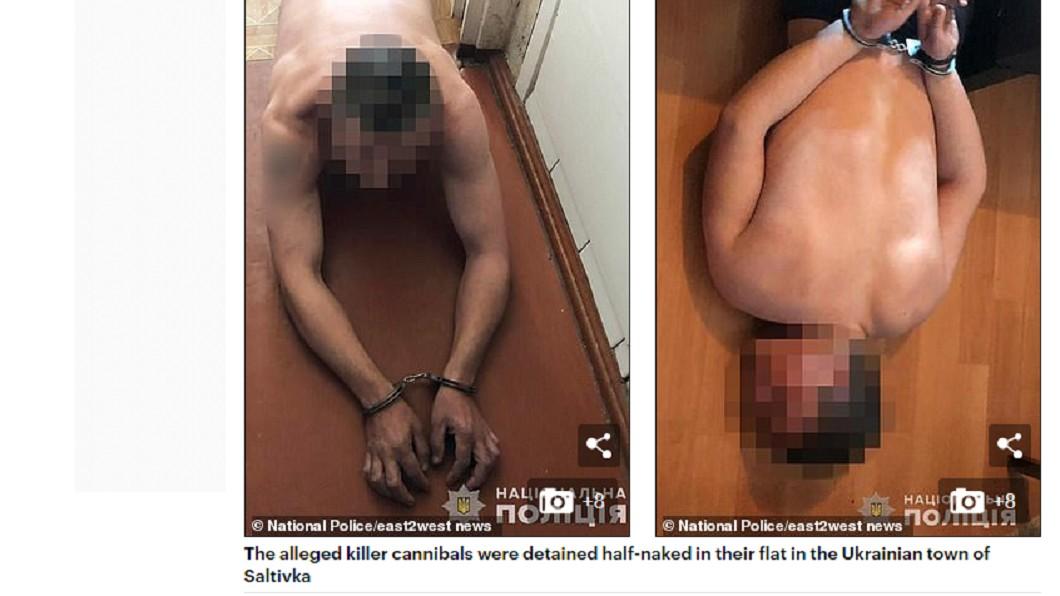 「涮人肉火鍋」的父子遭逮捕。圖/翻攝自《每日郵報》 門口驚見無頭屍 警破門…父子正享用「涮人肉火鍋」