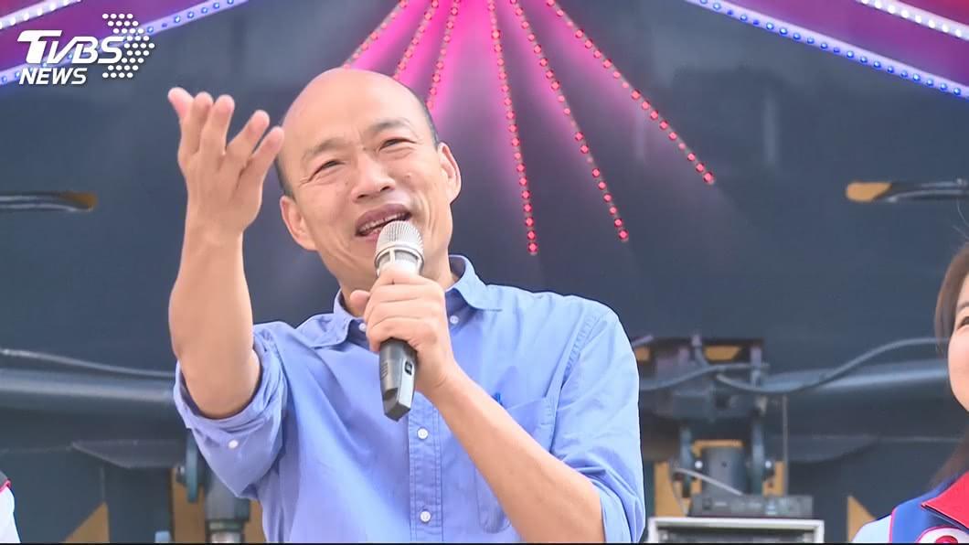 韓國瑜。圖/TVBS資料畫面 六都首長滿月成績單揭曉 他的好感度竟然一路下滑