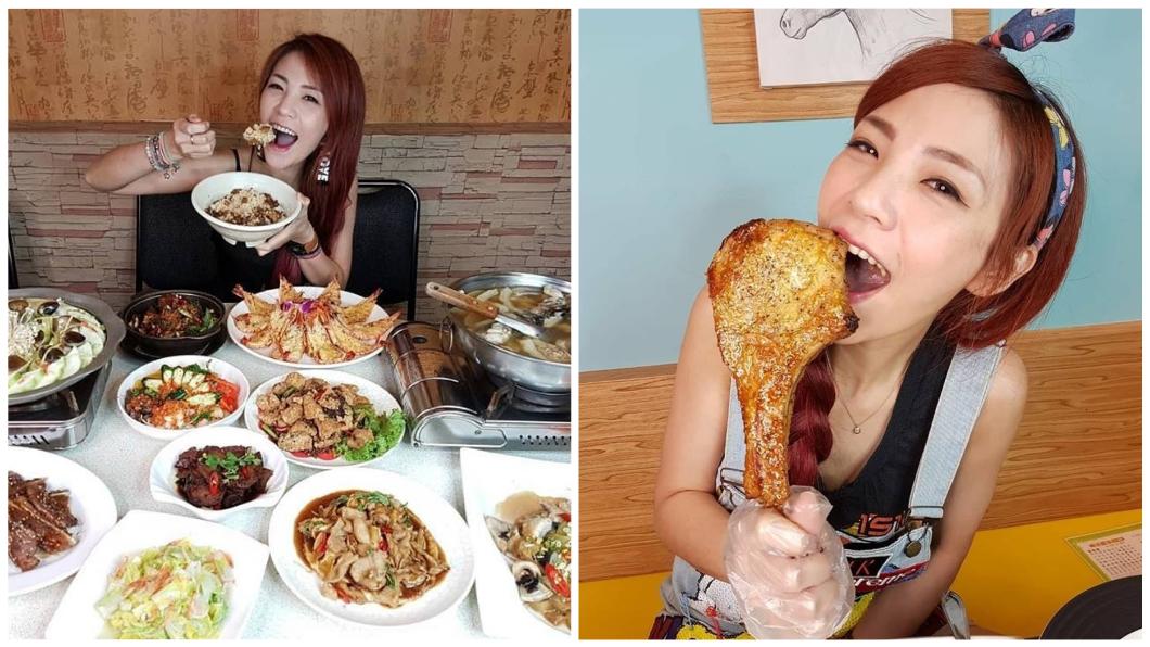 圖/翻攝自「膽固醇女王邵阿咩」臉書 大胃女1天6hr都在吃 慘遭前男友討「20萬伙食費」