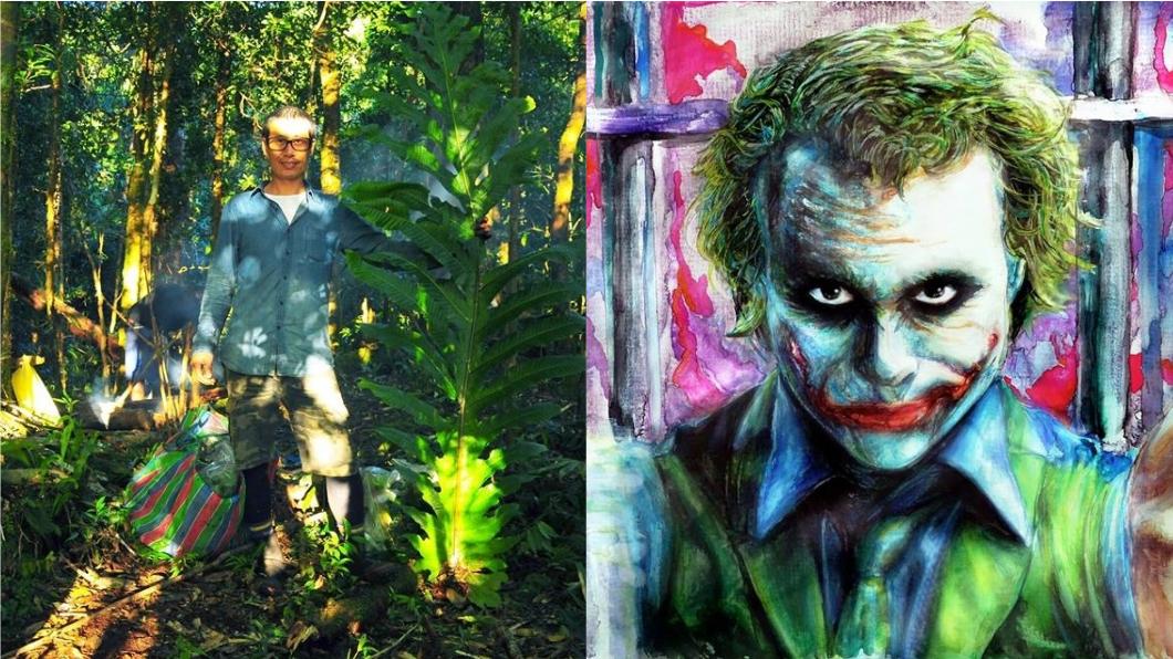 洪信介有時也會在臉書上分享自己的畫作,他表示未來若是不能再爬山,將考慮成為植物描圖專家,繼續投身在植物圈。圖/翻攝自洪信介臉書