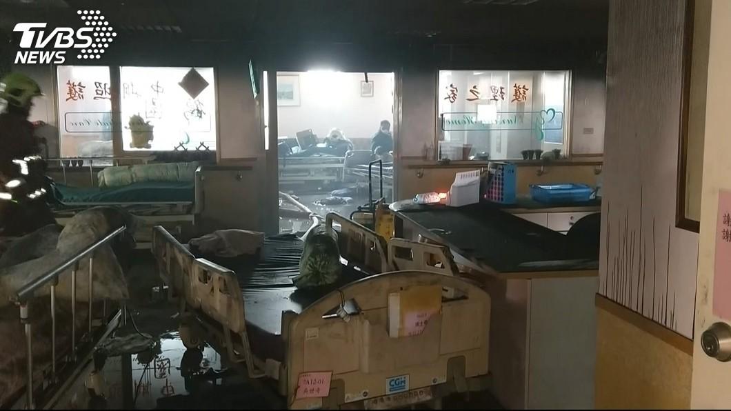衛福部台北醫院107年大火造成死傷。(圖/TVBS資料畫面) 台北醫院大火釀15死14傷 2護理師獲判無罪