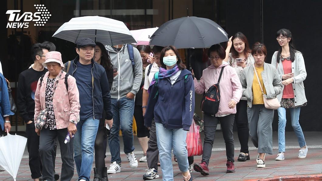 圖/中央社 注意保暖!東北風增強 各地早晚偏涼
