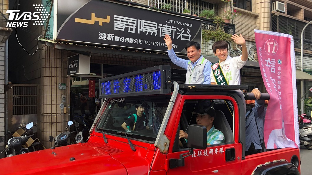 圖/中央社 選戰倒數 林佳龍北上輔選黨籍台北市議員候選人
