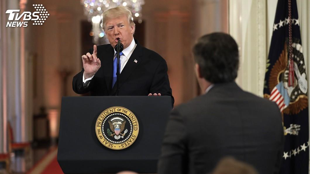 圖/達志影像美聯社 提問激怒川普 CNN白宮記者採訪證遭取消