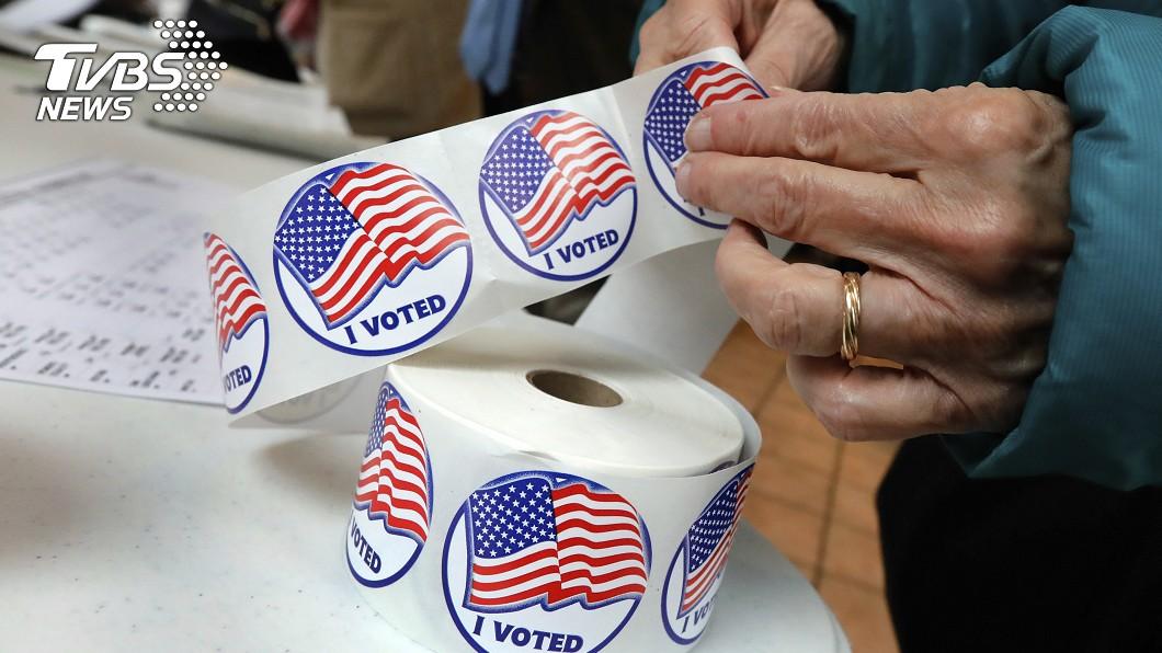 美國選民投完票,一般都會獲得「I Voted(我投票了)」貼紙。圖/達志影像美聯社