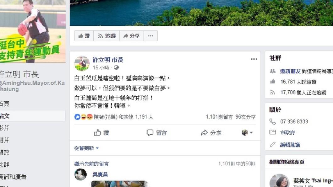 圖/翻攝自許立明臉書