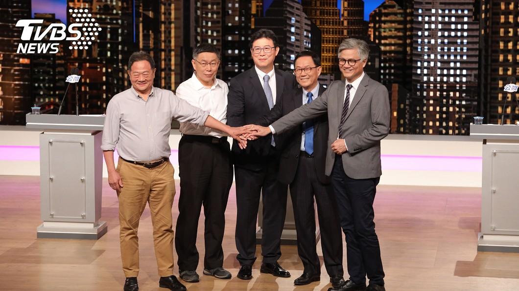 圖/中央社 TVBS民調/柯文哲支持度39%、丁36%、姚12%