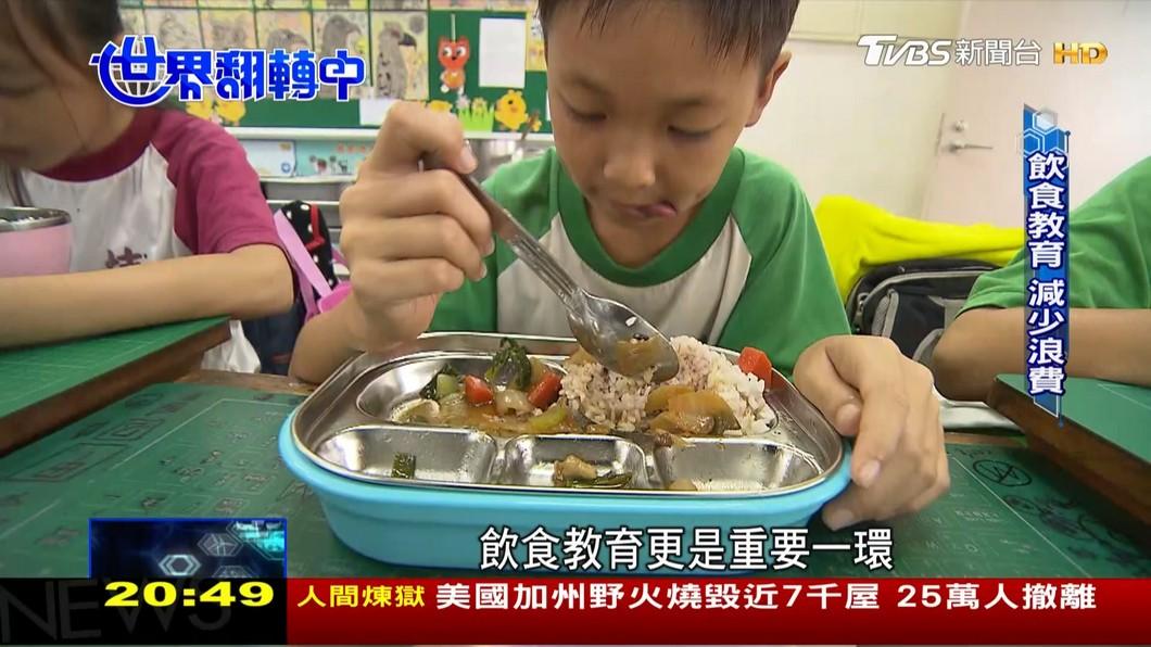 圖/TVBS 兼顧好吃又營養 民間發起校園午餐革命