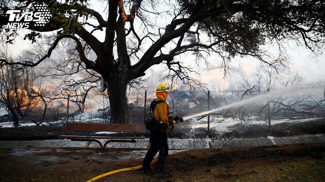 圖/達志影像路透社 加州史上最致命野火延燒 好萊塢取消紅毯首映