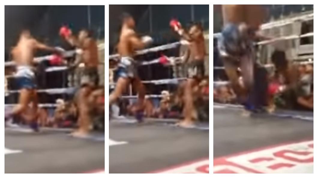 圖/翻攝自You Like Muay Thai YouTube 為家計打泰拳 少年遭對手重拳暴擊頭部活活打死