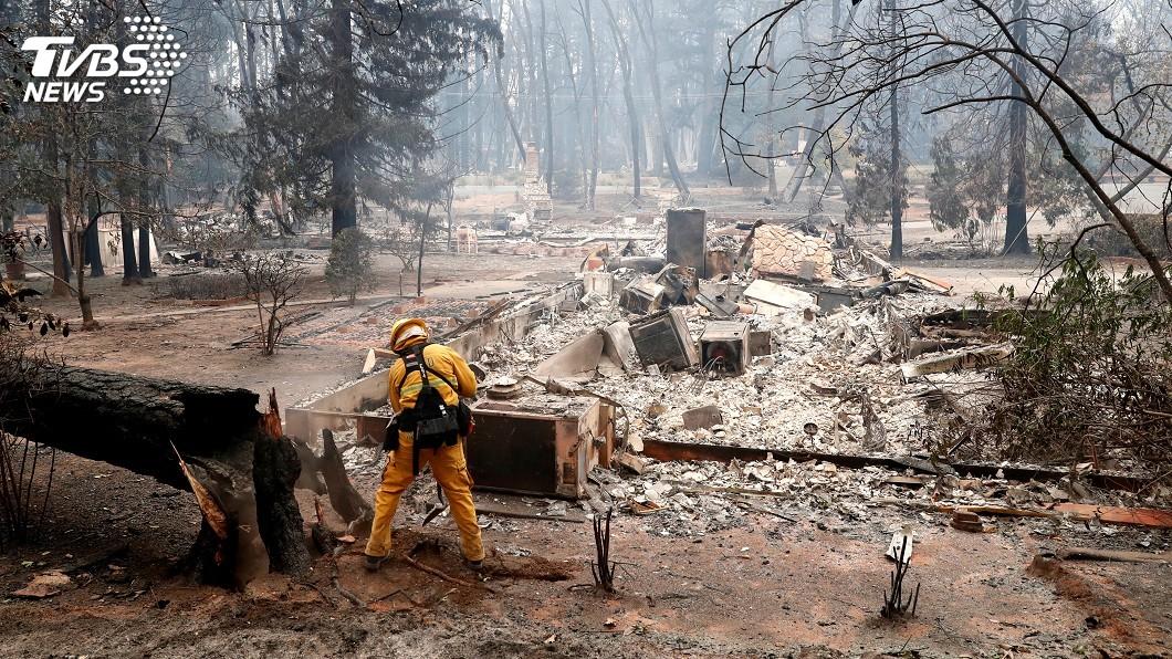 圖/達志影像路透社 加州野火災情歷年最慘重 專家指缺雨所致