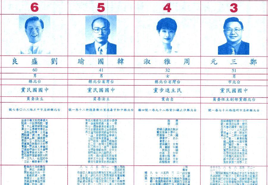 網友挖出韓國瑜在20年前的選舉政見。(圖/翻攝自立委選舉公報)