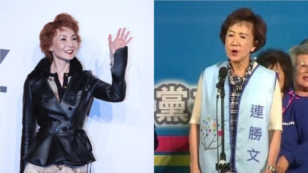有網友認為,張曼玉的短髮造型神似連戰夫人連方瑀。圖/翻攝自《微博》、TVBS資料畫面