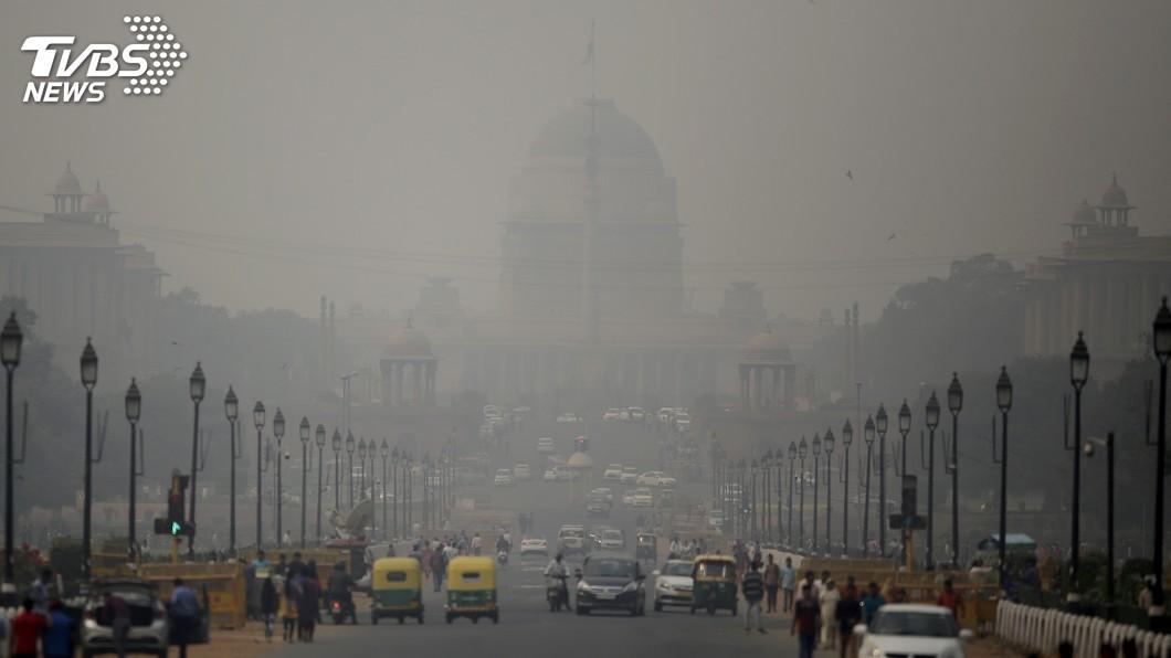 圖/達志影像美聯社 印度德里空污PM1暴增12倍 嚴重危害健康