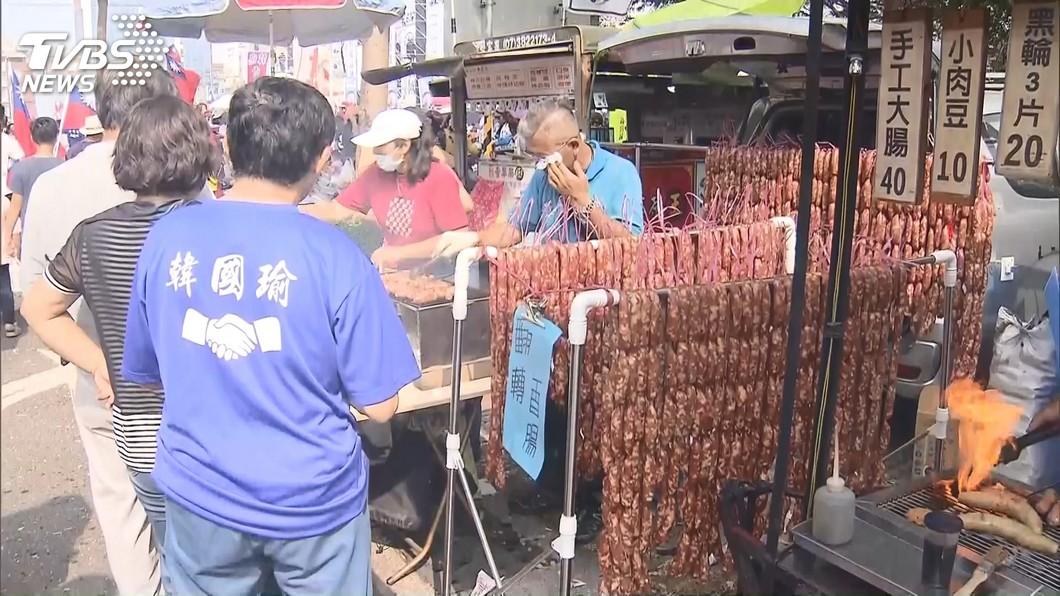 圖/TVBS 凱道禁設攤 挺韓造勢活動「香腸瀑布看不到了」